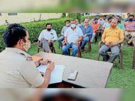 काेराेना गाइडलाइन की पालना की जिम्मेदारी सीएलजी सदस्याें, 34 पुलिस थानाें की सीएलजी की मीटिंग हुई, पुलिस अधीक्षक जगदीश चंद्र शर्मा ने दिए दिशा-निर्देश|अजमेर,Ajmer - Dainik Bhaskar
