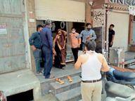 बेवजह बाजार में घूमते मिले लोग, चोरी-चुपके ज्वेलर कर रहा था व्यापार, दुकान सील की|राणापुर,Ranapur - Dainik Bhaskar