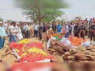 सड़क दुर्घटना में काेटा में तैनात सूबेदार व उनकी पत्नी की मौत कोटा,Kota - Dainik Bhaskar