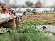 हिंडाडीह पुल से नीचे गिरी कार, पानी में डूबने से एक की मौत|बिलासपुर,Bilaspur - Dainik Bhaskar