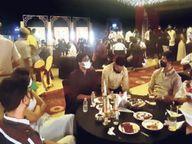 रात 11 बजे होटल में 200 लोगों की 'संक्रामक' पार्टी; शिकायत पर मेयर टीम लेकर पहुंचीं, रूफटॉप सील|जयपुर,Jaipur - Dainik Bhaskar