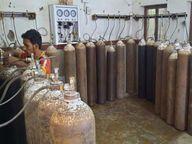 जिले के अस्पतालों में ढाई गुना बढ़ गई ऑक्सीजन की खपत|बिलासपुर,Bilaspur - Dainik Bhaskar