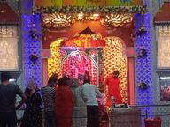 चौराहे सजाकर नववर्ष का स्वागत, मंदिरों में देवी दुर्गा की आराधना की धूम, सड़कों पर रंगोली सजाई|श्रीगंंगानगर,Sriganganagar - Dainik Bhaskar