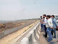 चीफ इंजीनियर ने किया ढंढूर डंपिंग साइट का निरीक्षण, 10 दिन बाद नई साइट पर डाला जाएगा कूड़ा|हिसार,Hisar - Dainik Bhaskar