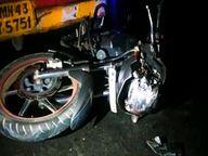 ट्रक ने बाइक को चपेट में लेकर 10 फीट तक घसीटा, दो की मौत; हादसे के बाद जुटी भीड़ में शामिल एक व्यक्ति ट्रक की चपेट में आकर घायल|उदयपुर,Udaipur - Dainik Bhaskar