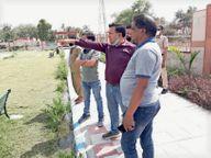 सुरक्षा की दृष्टि से पार्क में लगाए जाएंगे सीसीटीवी और कंटीली तारें घरौंडा,Gharaunda - Dainik Bhaskar