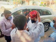 रेवदर पहुंचे राज्यसभा सांसद डांगी का किया स्वागत रेवदर,Revdar - Dainik Bhaskar