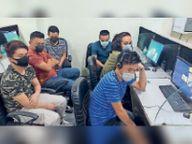 सोशल सिक्योरिटी नंबर के नाम पर ठगने वाला फर्जी कॉल सेंटर पकड़ा|गुड़गांव,Gurgaon - Dainik Bhaskar