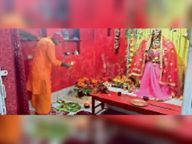 दूसरे दिन मां ब्रह्मचारिणी देवी की हुई पूजा श्रद्धालुओं ने की सुख और समृद्धि की कामना|मुजफ्फरपुर,Muzaffarpur - Dainik Bhaskar