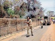 मिशन परिसर में लगी आग घंटेभर की मशक्कत कर दमकल टीम ने बुझाई|रायगढ़,Raigarh - Dainik Bhaskar