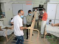 11 गंभीर एक साथ आए तो अस्पताल की सांसें फूली, 2 घंटे तक नहीं दे पाए बेड और ऑक्सीजन पाली,Pali - Dainik Bhaskar
