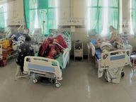 बेड और वेंटिलेटर फुल, हर आधे घंटे में आ रहे ऑक्सीजन के 60 सिलेंडर, गंभीर रोगियों को ही लग रहे रेमडेसिविर|जोधपुर,Jodhpur - Dainik Bhaskar