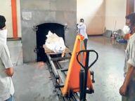 किशोरपुरा मुक्तिधाम में...अंतिम संस्कार की वेटिंग; खौफ की कतार बढ़ती जा रही|कोटा,Kota - Dainik Bhaskar