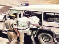 सिपाही ने व्यापारी को पीटा; लात मारी, एसपी ने मांगी रिपोर्ट|अलवर,Alwar - Dainik Bhaskar