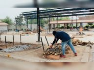 इलेक्ट्रिक भट्टी का अभाव, चार गुना लकड़ियों की खपत; सुबह से शाम तक लग रही वेदियां|बठिंडा,Bathinda - Dainik Bhaskar