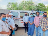 साहू समाज ने चंदा एकत्र कर खरीदी एंबुलेंस, जरूरतमंदों की सेवा में ऑक्सीजन सिलेंडर के साथ फ्री में करा रहे हैं उपलब्ध|भिलाई,Bhilai - Dainik Bhaskar