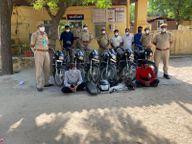 6 दोस्तों ने शौक पूरे करने के लिए बनाई गैंग, सैकड़ों बाइक चुराई और आखिर पकड़े गए|पाली,Pali - Dainik Bhaskar