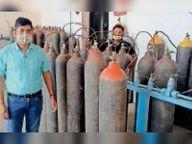देशभर में ऑक्सीजन की कमी से मन विचलित हुआ तो प्लांट से देने लगे फ्री में ऑक्सीजन|अम्बाला,Ambala - Dainik Bhaskar