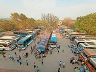 बिहार में लॉकडाउन के कारण, शहर से 200 बस अगले आदेश तक नहीं खुलेंगी|जमशेदपुर,Jamshedpur - Dainik Bhaskar