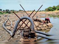 चंबल की लाइन लीकेज, वहीं कालाभाटा बांध व रामघाट में 8 दिन का पानी ही बचा|मंदसौर,Mandsaur - Money Bhaskar