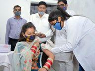 18+उम्र के लोगों के लिए 240 डोज मिलीं ऑनस्पाट रजिस्ट्रेशन के बाद लगेगा टीका रायगढ़,Raigarh - Dainik Bhaskar