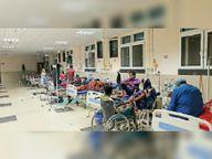मेडिकल कॉलेज में बेड खाली, पर मरीजों को भर्ती से कर रहे हैं इंकार|मधेपुरा,Madhepura - Dainik Bhaskar