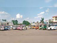 तीन राज्यों के लिए बसों का आवागमन बंद, 90% यात्री घटे|सागर,Sagar - Dainik Bhaskar