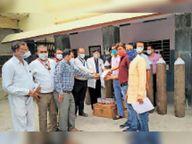 अस्पताल के लिए सकारात्मक पहल, मिशन ऑक्सीजन पर जुटे कई कर्मचारियों के हाथ|टोंक,Tonk - Dainik Bhaskar