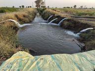 फसल सुखने से बचाने पांच किसान अपने तालाब और ट्यूबेल का पानी नहर में छोड़ पहुंचा रहे खेत, कृषि मंत्री के गृहजिले में पांच किसान कर रहे जलदान|होशंगाबाद,Hoshangabad - Dainik Bhaskar