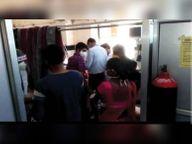 सोनोग्राफी के लिए जा रही महिला का रास्ते में खाली हुआ ऑक्सीजन सिलेंडर|पाली,Pali - Dainik Bhaskar