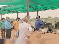 कलेक्टर ने तपती धूप में खड़ी गोवंश को देख अधिकारियों को लगाई फटकार|नागौर,Nagaur - Dainik Bhaskar