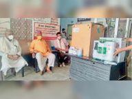 दवा और चिकित्सा उपकरण के लिए नागौर विधायक ने दिए 31. 81 लाख|नागौर,Nagaur - Dainik Bhaskar