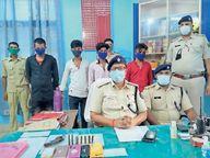 अपराध की साजिश रच रहे 4 अपराधी गिरफ्तार|सहरसा,Saharsa - Dainik Bhaskar
