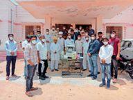 भामाशाह जी आपने ऑक्सीजन मशीन दी, धन्यवाद! लेकिन जब बेटी की विदाई में भी 10 लोगों को ही अनुमति तो यहां 27 लोगों का क्या काम|जोधपुर,Jodhpur - Dainik Bhaskar