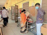 पूर्ण लॉकडाउन में संक्रमण दर 9 फीसदी बढ़कर 40 पर पहुंची, सैंपलिंग 27% घटी|सीकर,Sikar - Dainik Bhaskar