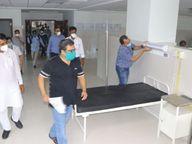 कोरोना पीड़ित युवक अस्पताल की तीसरी मंजिल से कूदा, मौत इंदौर,Indore - Dainik Bhaskar