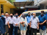 अत्याधुनिक चिकित्सा सुविधाओं से लैस निशुल्क एंबुलेंस सेवा शुरू, एक फोन करने पर पहुंचेगी आपके दरवाजे पर|फरीदाबाद,Faridabad - Dainik Bhaskar