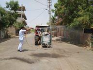 वार्ड को कोरोना से सुरक्षित रखने के लिए पार्षद ने उठाया बीड़ा, करवाया सैनेटाइज, पिलाया आयुर्वेदिक काढ़ा; लोगों को कर रहे जागरूक|राजस्थान,Rajasthan - Dainik Bhaskar