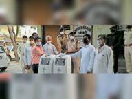 जुबेरी वेलफेयर की ओर से पुलिस को मिले 2 ऑक्सीजन कन्संट्रेटर|टोंक,Tonk - Dainik Bhaskar