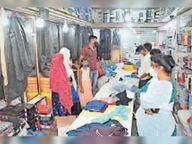 शटर के अंदर से चल रही दुकान पर 10 हजार का लगाया जुर्माना|विदिशा,Vidisha - Dainik Bhaskar