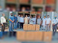 काेविड पीड़ितों की सहायता के लिए संगठनों ने भेंट किए उपकरण श्रीगंंगानगर,Sriganganagar - Dainik Bhaskar