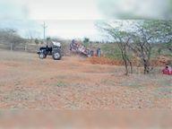 जल संरचना कार्य में मजदूर की जगह ट्रैक्टर से काम|झाबुआ,Jhabua - Money Bhaskar