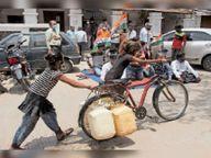 गांव में पेयजल नहीं मिल रहा है, सफाई भी नहीं हो रही|महू,Mhow - Money Bhaskar