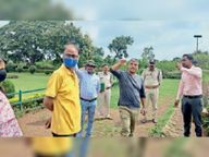 वन विभाग इंदौर के सीसीएफ मोहंता रानी रूपमती महल पहुंचे, वाच टाॅवर लगाने के लिए जगह देखी बदनावर,Badnawar - Money Bhaskar