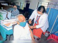 45+में जैजैपुर ब्लॉक में 100% को लगा टीका जांजगीर,Janjgeer - Money Bhaskar