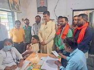 क्षत्रिय महासभा के शिविर में 213 ने लगवाई वैक्सीन जांजगीर,Janjgeer - Money Bhaskar