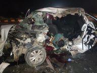 बैतूल पुलिस का वाहन ट्रक से टकराया; चौकी प्रभारी की मौत, ASI और दो कॉन्स्टेबल गंभीर, नागपुर रेफर|बैतूल,Betul - Money Bhaskar