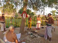 सोने के घोड़े पर विराजमान होकर निकले भगवान रंगनाथ , शमी के वृक्ष का किया पूजन|मथुरा,Mathura - Money Bhaskar