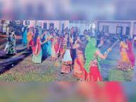 अग्रवाल समाज के डांडिया नाइट्स में महिलाओं ने खनकाए डांडिया|दौसा,Dausa - Money Bhaskar