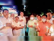 भाजपा युवा व महिला मोर्चा ने कैंडल मार्च निकाला जगदलपुर,Jagdalpur - Money Bhaskar
